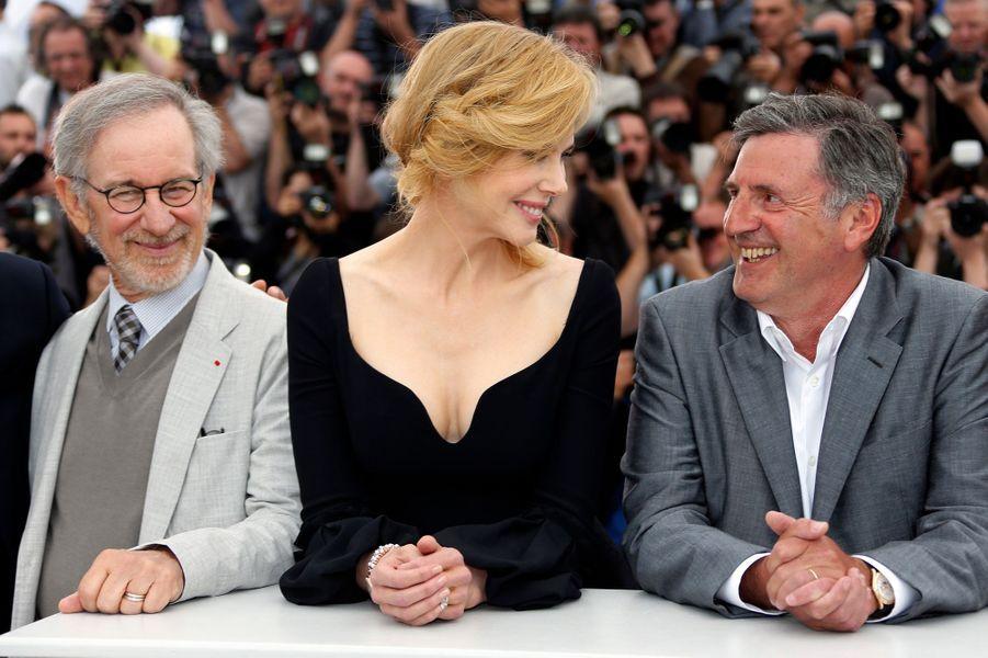 Aux côtés de Steven Spielberg, Nicole Kidman s'amuse avec Daniel Auteuil.