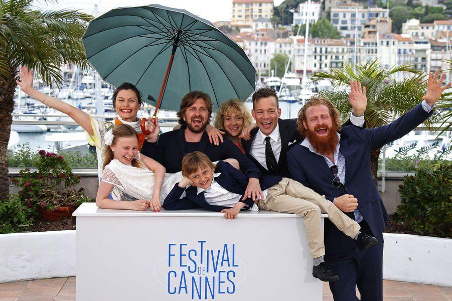 L'équipe du film «Turist» («Un certain regard»).
