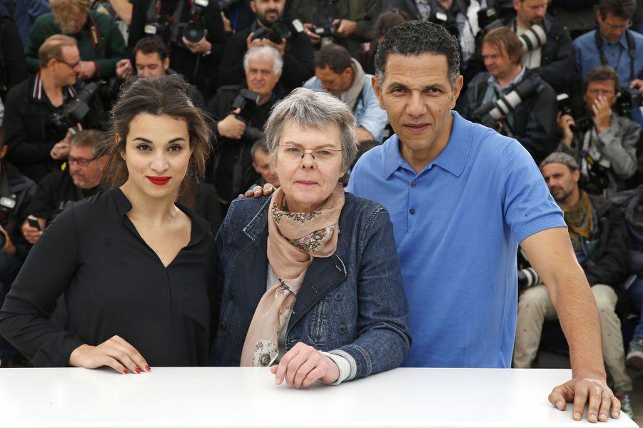 La réalisatrice Pascale Ferran et ses acteurs Camelia Jordana et Roschdy Zem venus défendre «Bird People» («Un certain regard»).