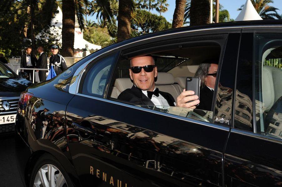 Bruce Willis au Festival de Cannes en 2012