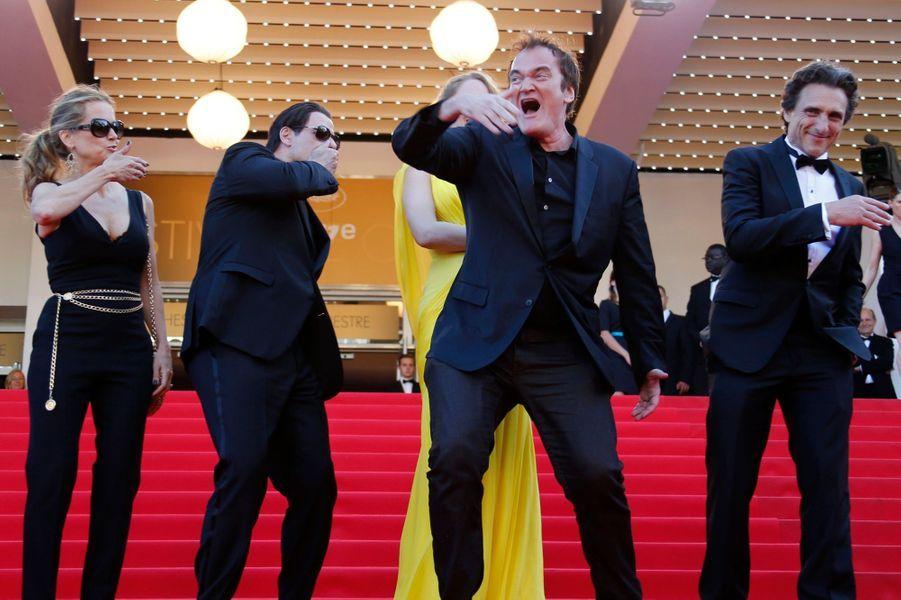 Quentin Tarantino, Uma Thurman et John Travolta