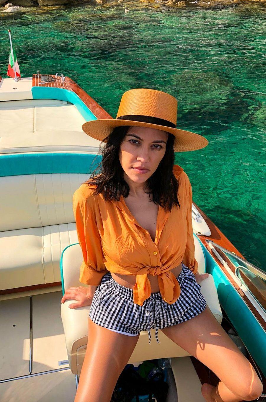 Kourtney Kardashian en Italie en juin 2018