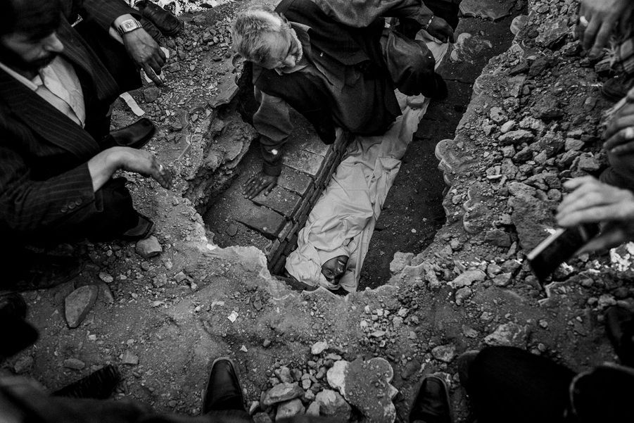 Burial ceremony of a Martyr killed in a war by Taliban in Kabul.