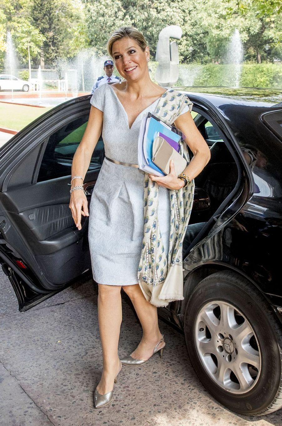 La reine Maxima des Pays-Bas à New Delhi, le 28 mai 2018
