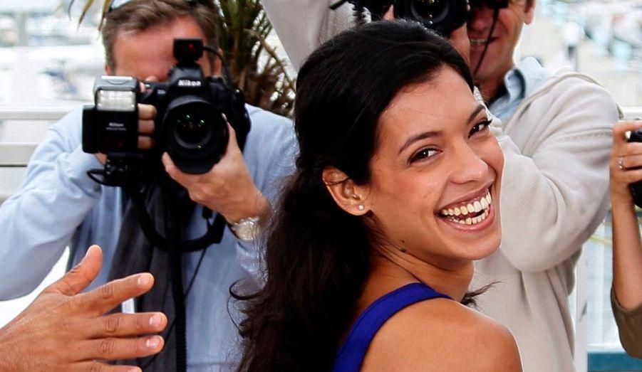 L'actrice Stéphanie Sigman prend la pose pendant le photocall du film Miss Bala du Mexicain Gerardo Naranjo, en compétition dans la catégorie Un certain regard.