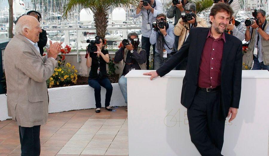 Le réalisateur italien applaudi par l'acteur Michel Piccoli a présenté son film Habemus Papam (Nous avons un Pape), en compétition officielle. Il avait remporté la palme d'or en 2001 pour La Chambre du fils.