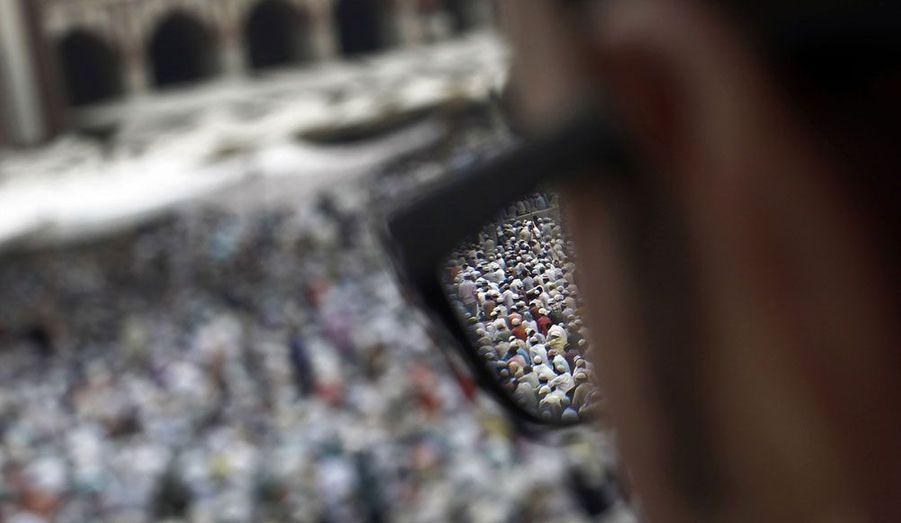A New Delhi, en Inde, les musulmans célèbrent la fin du ramadan.