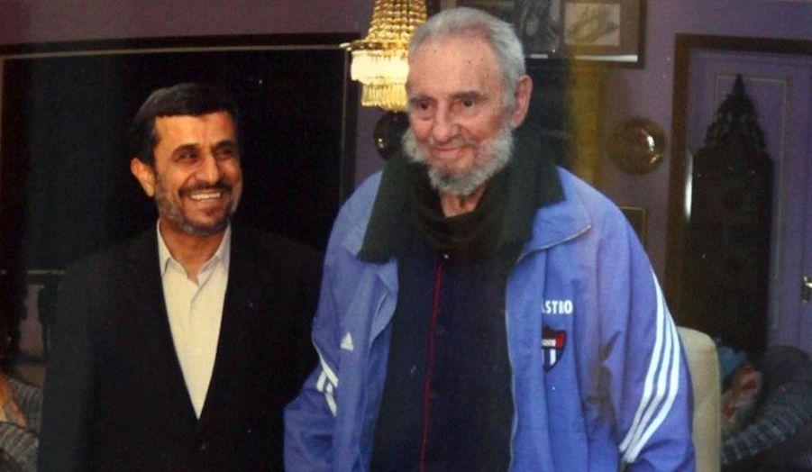 Le président iranien Mahmoud Ahmadinedjad a rencontré Fidel Castro, lors de sa tournée sud-américaine. Il a qualifié les relations entre Cuba et l'Iran de «bonnes».