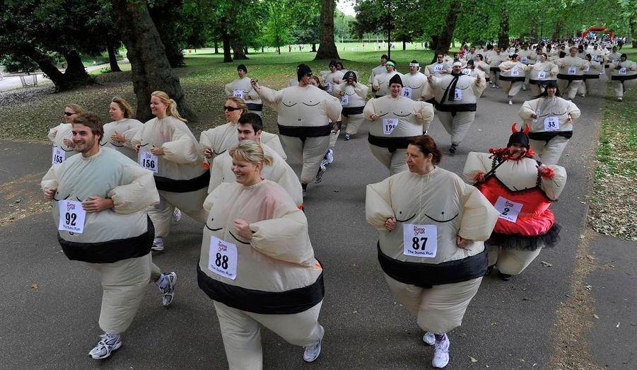 Tous les ans à Londres, une course en costume de sumo est organisée. Le principe est de courir sur 5 kilomètres dans le parc de Battersea. L'inscription est payante et l'argent est reversé à une association pour les enfants du monde.