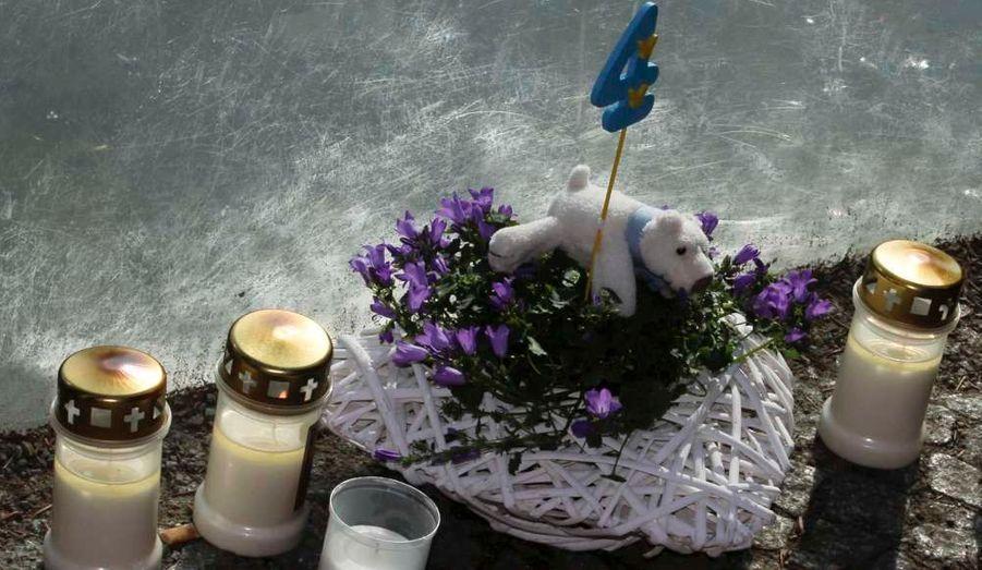 Des bougies ont été déposées devant l'enclos des ours au zoo de Berlin, en Allemagne, en mémoire du célèbre ours Knut. Premier ours polaire à naître dans le zoo en 30 ans, Knut avait été rejeté par sa mère. Il est mort samedi 19 mars à l'âge de 4 ans.