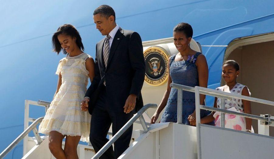 Barack Obama et sa famille sont bien arrivés à Santiago, pour une visite officielle au Chili. Le président des Etats-Unis effectue en ce moment une grande tournée en Amérique du Sud