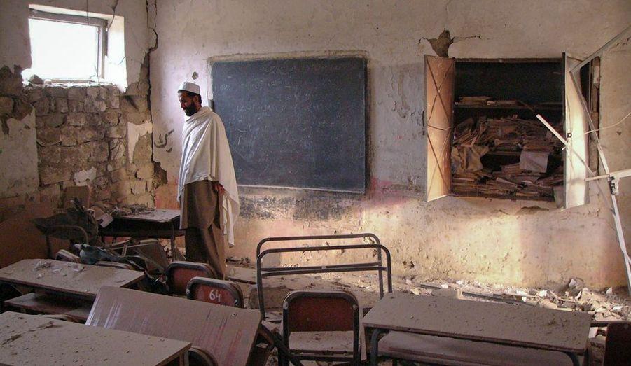 Une école a été partiellement détruite dans l'explosion d'une bombe à Landikotal, dans le nord-ouest du Pakistan, mardi. L'attaque n'a pas fait de victime.