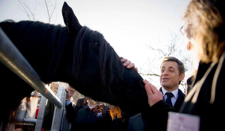 Le président de la République Nicolas Sarkozy était en déplacement à Pamiers, dans l'Ariège. Il a adressé ses voeux au monde rural.