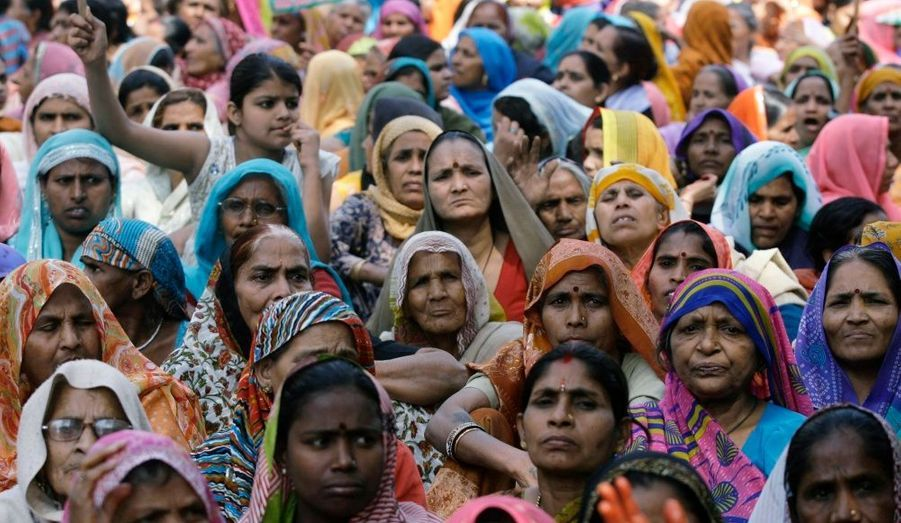 La journée internationale de la femme donne lieu à des rassemblements dans le monde entier. Comme ici, en Inde, où une manifestation s'est tenue devant le parlement.