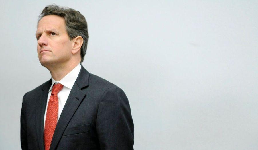 Le Secrétaire américain au Trésor, Timothy Geithner, avant une audience de la Commission sur les services financiers de la Chambre des représentants, mardi au Capitole, à Washington.