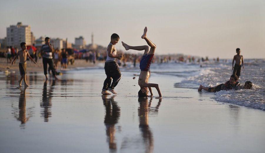 Bon temps sur une plage à Gaza