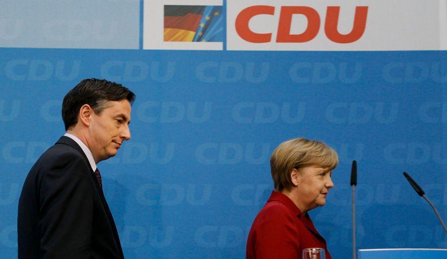 La CDU d'Angela Merkel a été battue par une coalition de centre-gauche, lors des élections de la Basse-Saxe, dimanche.