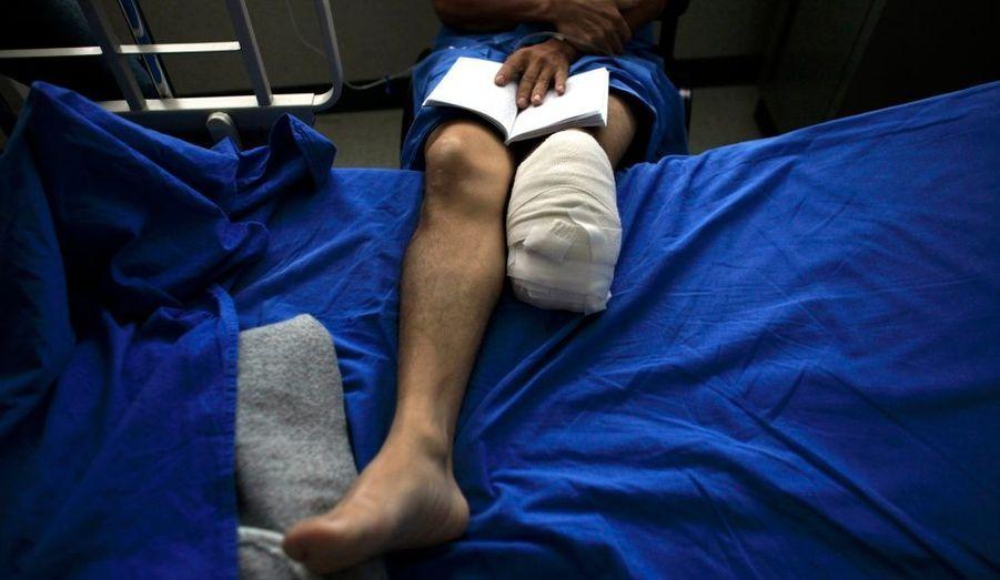 Un immigrant du Honduras s'est fait amputer la jambe après avoir tenté de passer la frontière des Etats-Unis. De nombreux immigrants d'Amérique Centrale perdent régulièrement la vie ou sont blessés en voyageant en train jusqu'aux Etats-Unis, dans des conditions atroces.