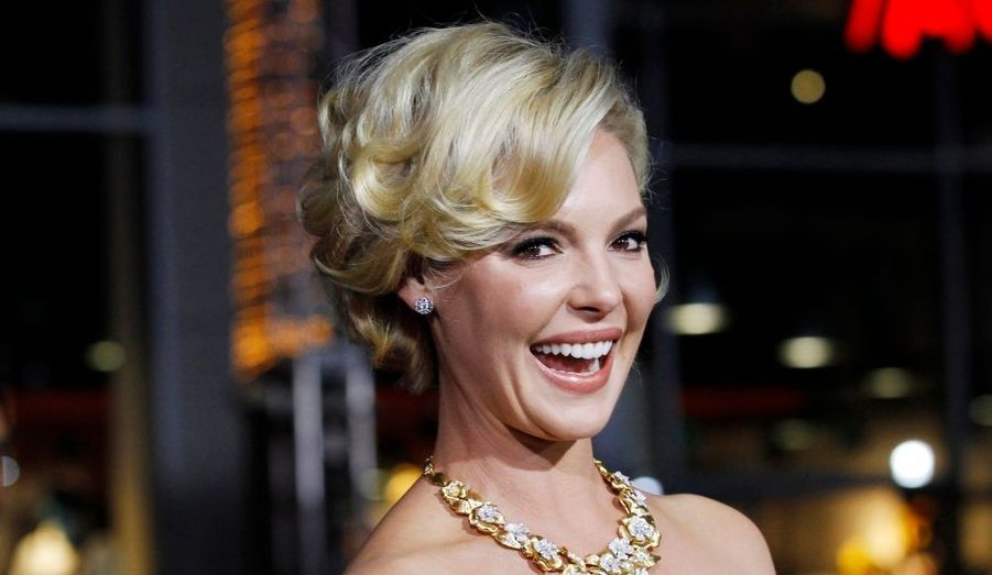"Katherine Heigl, lors de la première de ""New Year's Eve"" au fameux Grauman's Chinese theatre d'Hollywood."