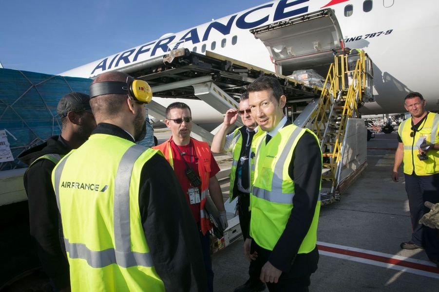 Benjamin Smith rencontre des salariés d'Air France, le 20 septembre.