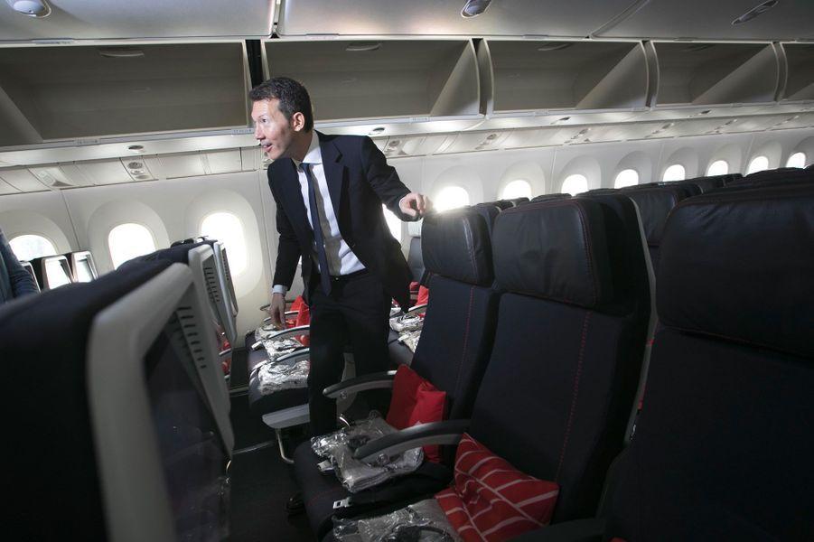 Benjamin Smith à bord d'un Boeing 787 d'Air France, le 20 septembre.