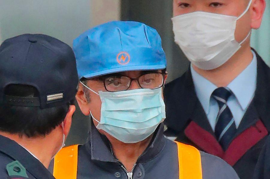Carlos Ghosn quitte la prison de Kosuge à Tokyo, mercredi.