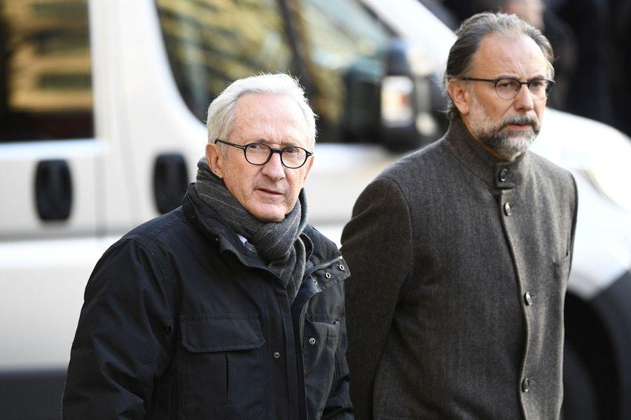 Franck Riboud, l'ancien PDG de Danone (à gauche)