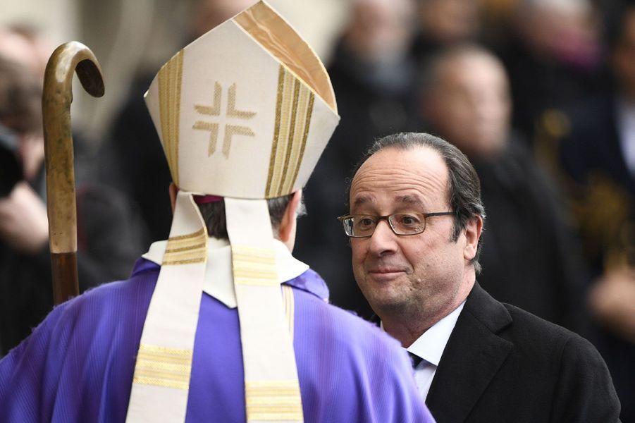 François Hollande aux obsèques de François Chérèque