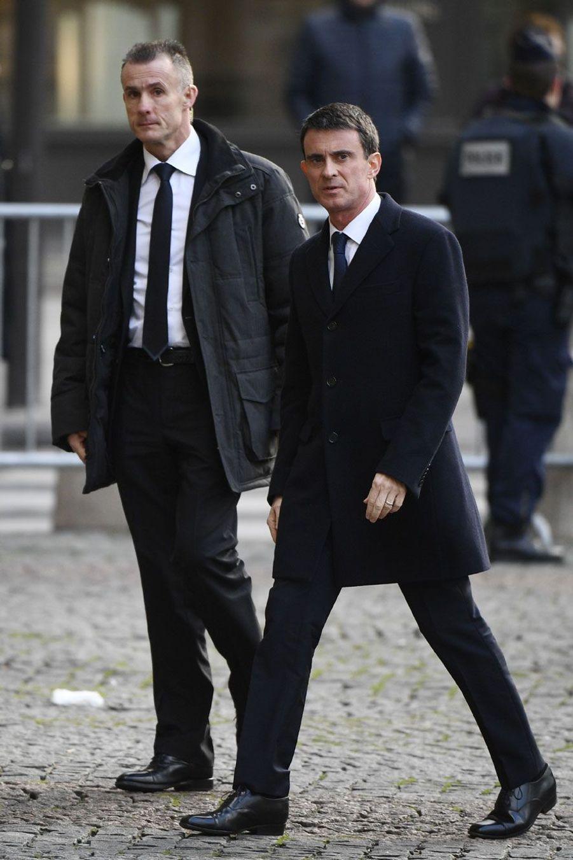 Manuel Valls aux obsèques de François Chérèque