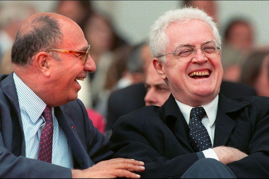 Serge Dassault avec le Premier ministre socialiste, Lionel Jospin, en juin 1997 au Bourget.
