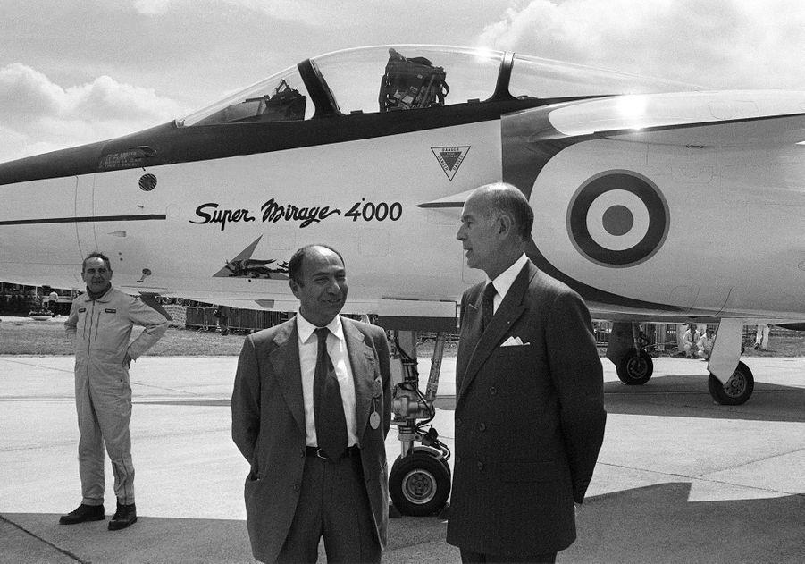 Serge Dassault et Valéry Giscard d'Estaing en juin 1979, au Bourget.
