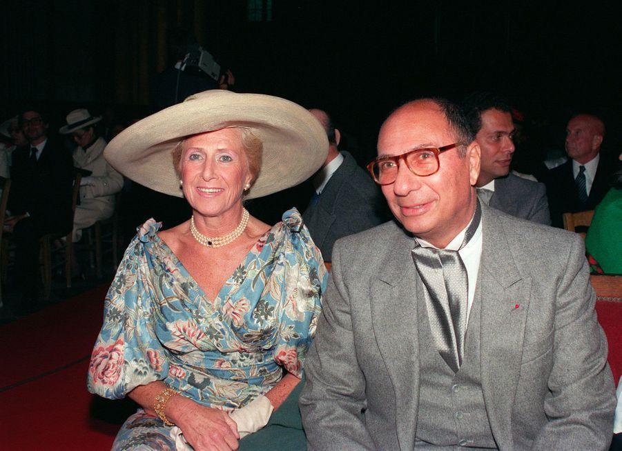 Serge Dassault et son épouse Nicole, en juin 1989, pour le mariage de leur fils Olivier Dassault.