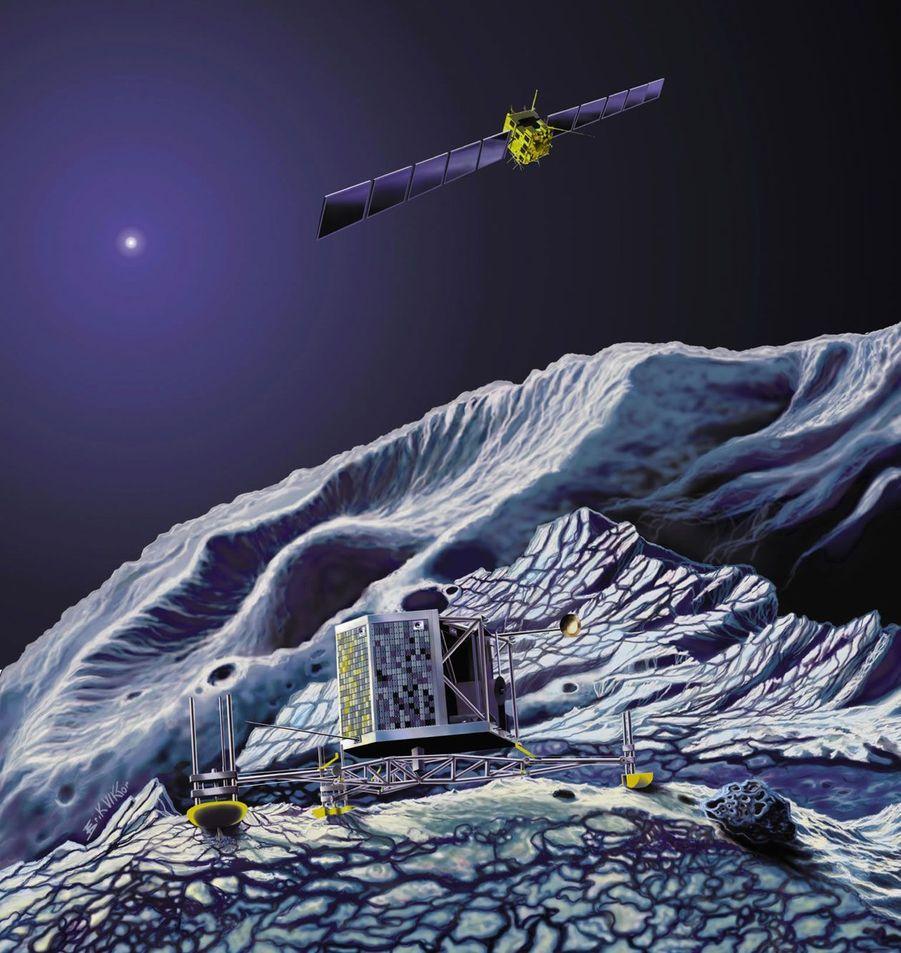Une fois posé, le module Philae va se mettre au travail. Sa durée de vie variera selon les conditions à la surface de la comète. La sonde, qui restera en orbite, devrait suivre la comète jusqu'en décembre 2015.