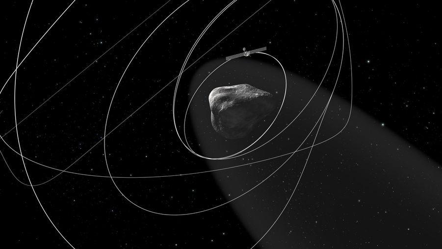 Pour s'approcher de la comète, Rosetta va orbiter autour d'elle, enchaînant une série de manoeuvres pour réduire la distance la séparant de l'objet céleste de 100 km à 25-30 km.
