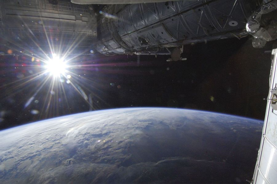 Le soleil pris depuis la station spatiale internationale