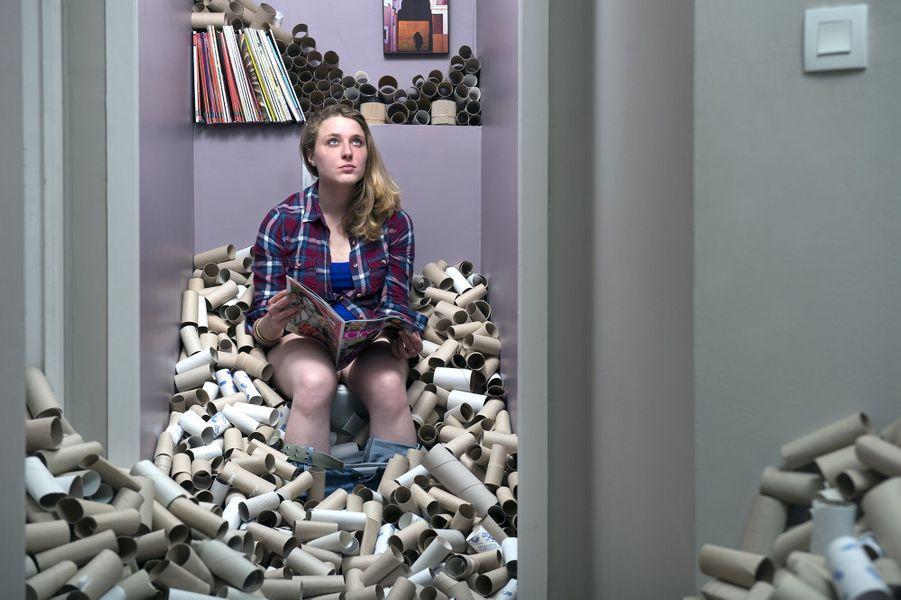 Quatre ans de déchets c'est.... 4 800 rouleaux de papiers toilettes