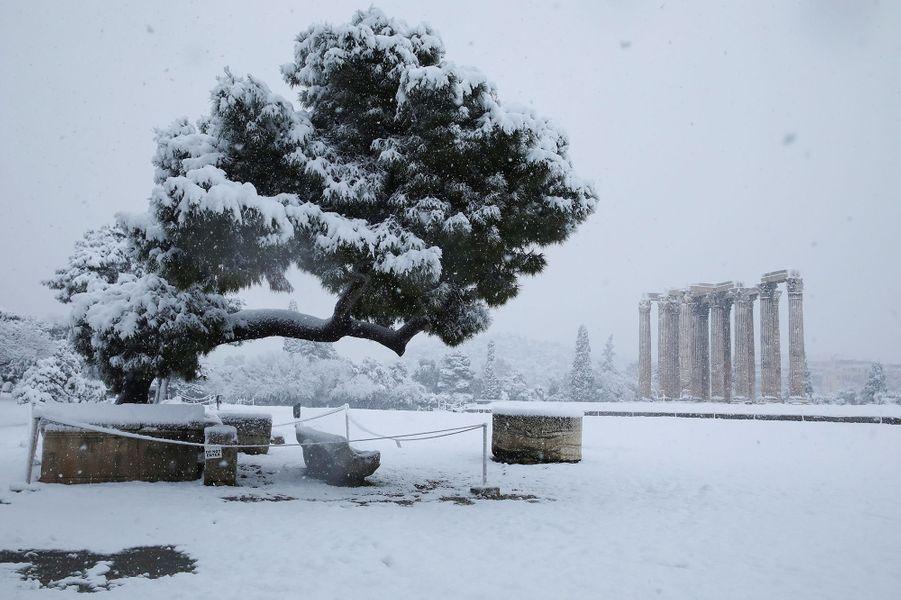 Le Temple de Zeus sous la neige