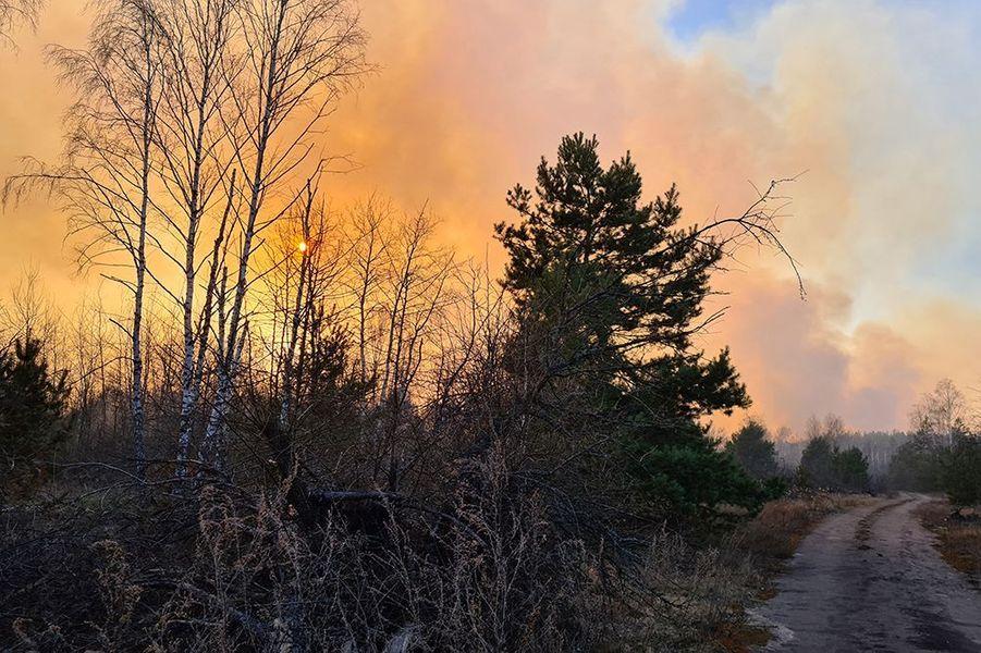 Un feu de forêt près de la centrale de Tchernobyl en Ukraine a provoquéun niveau de radioactivité 16 fois supérieur à la normale.