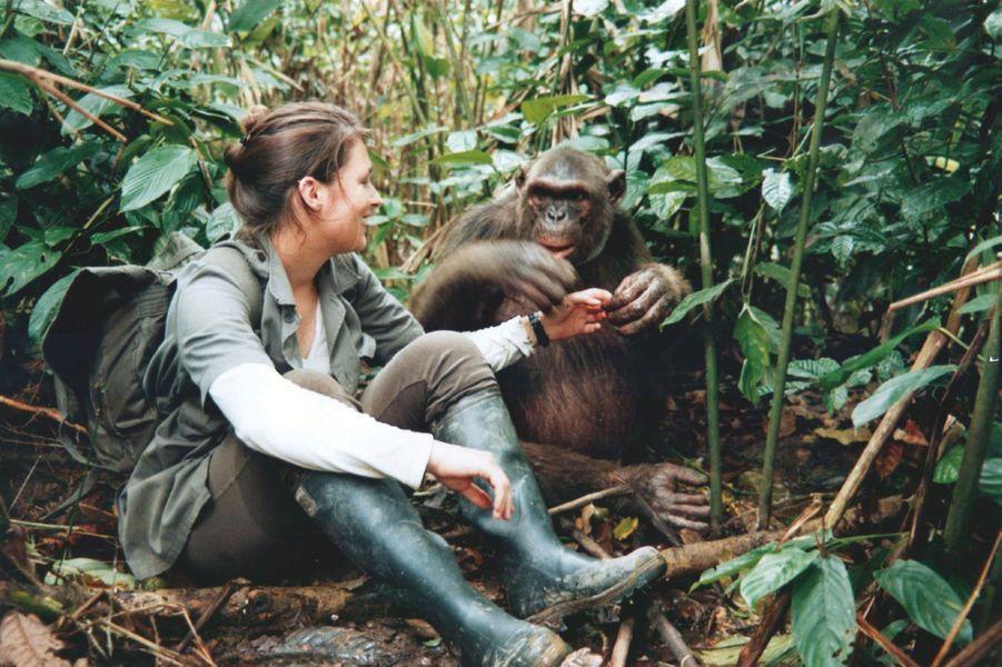 « Ma première rencontre avec un chimpanzé, en 2003, au Congo Brazzaville : il m'a bouleversée. »