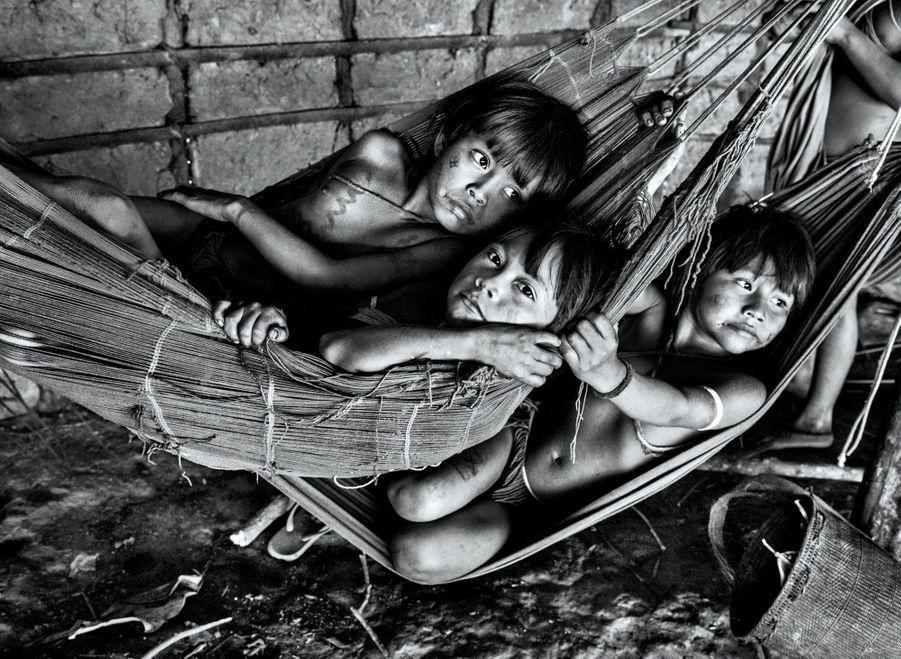 A cause des épidémies qui ont peu à peu décimé les plus âgés, 60 % des Yanomami ont moins de 15 ans.