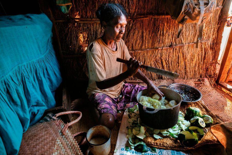 LA PASTÈQUE SAUVAGE. Le jus fait office d'eau de cuisson pour le riz.
