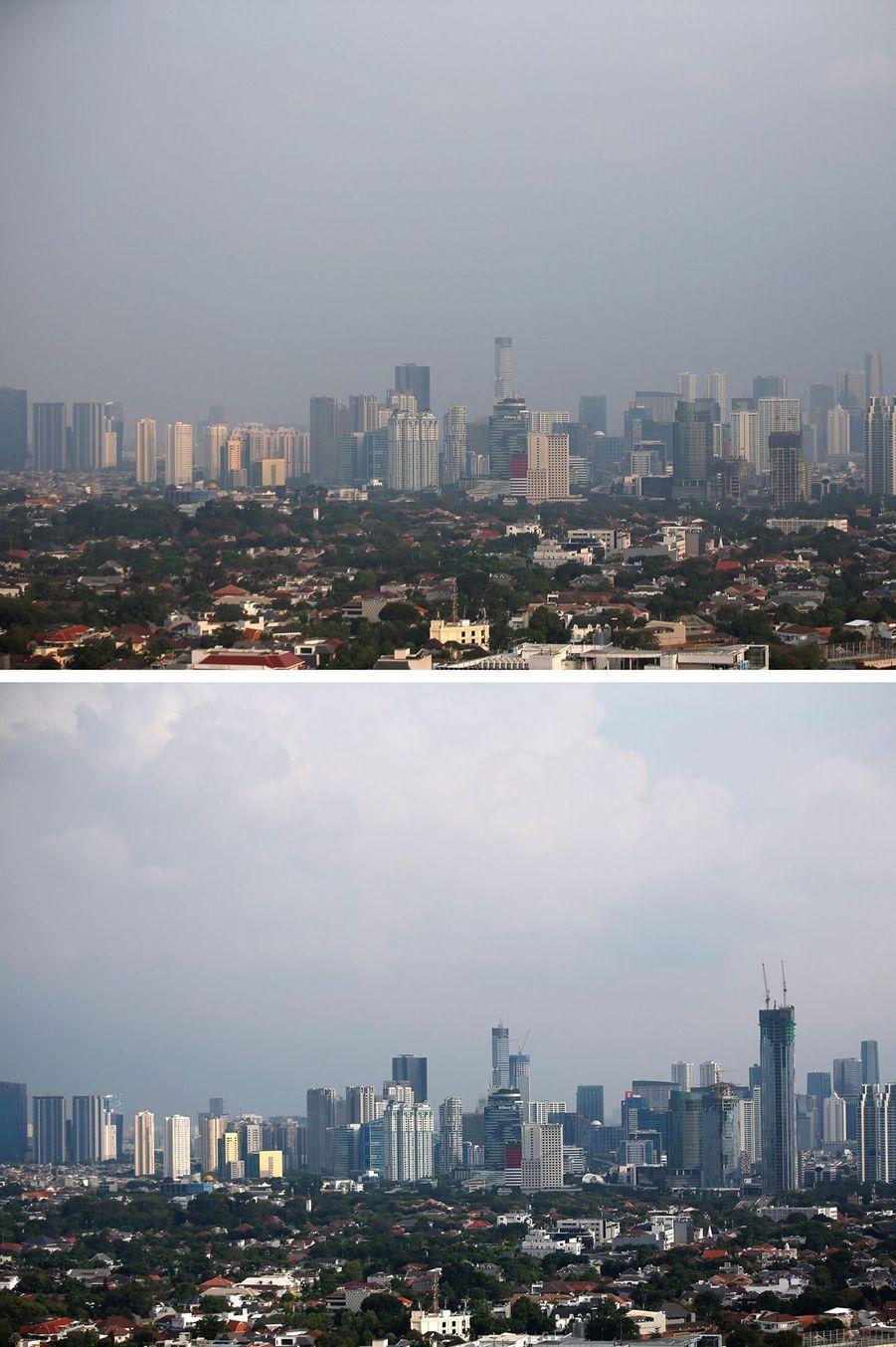Des buildings à Jakarta, en Indonésie.