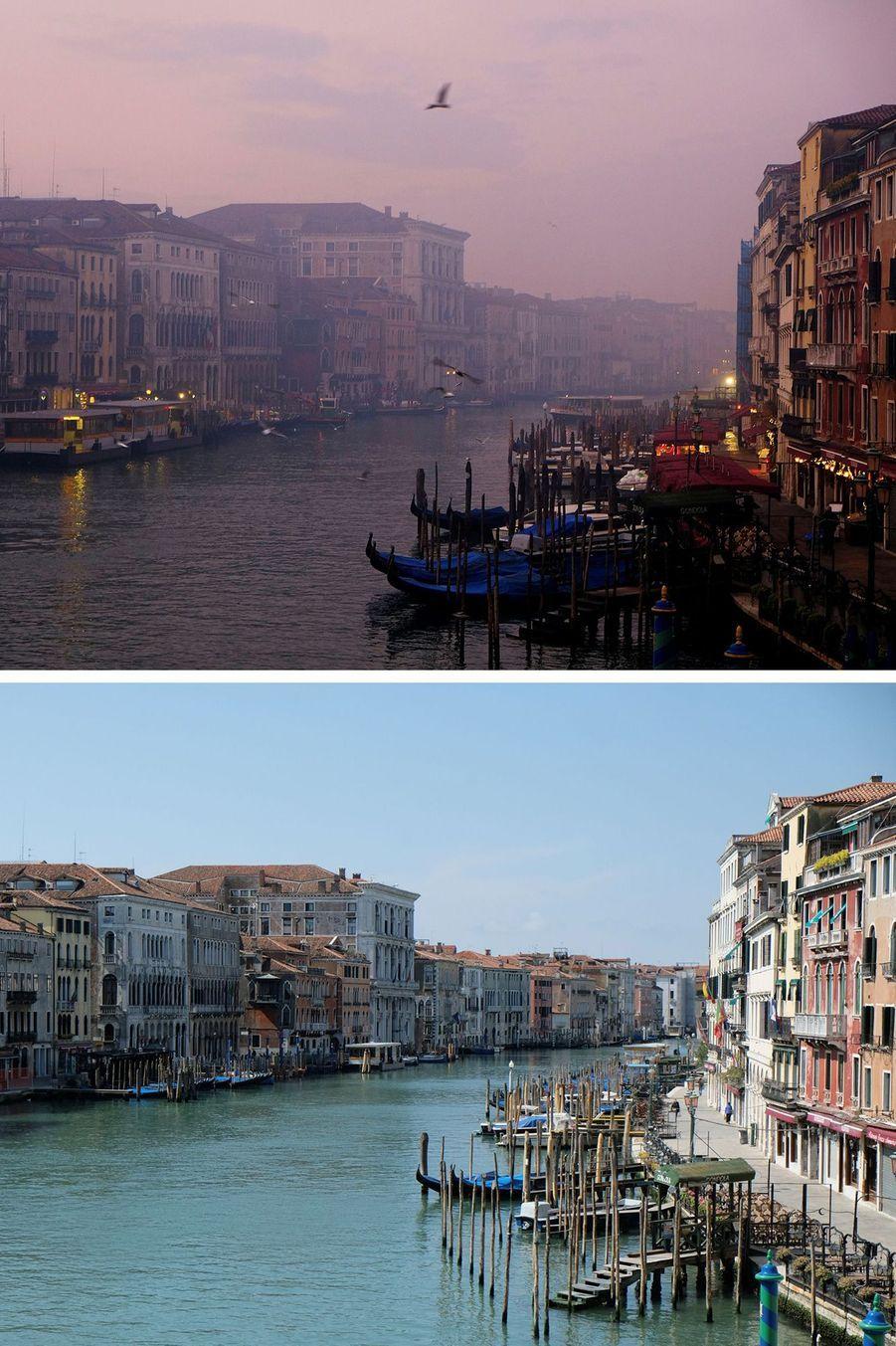 Le grand canal de Venise, en Italie.