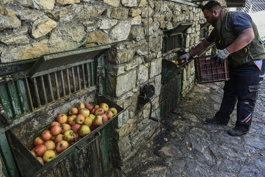Au refuged'Arcturos, en Grèce.