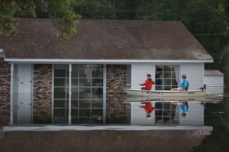 Octobre 2015. Inondations en Caroline du Sud, Etats-Unis