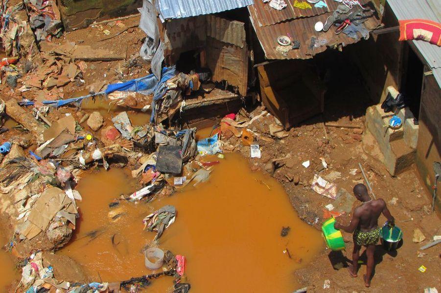 Septembre 2015. Inondations à Freetown, en Sierra-Leone