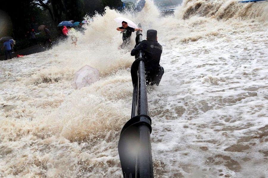 Septembre 2015. Le typhon Dujuan en Chine