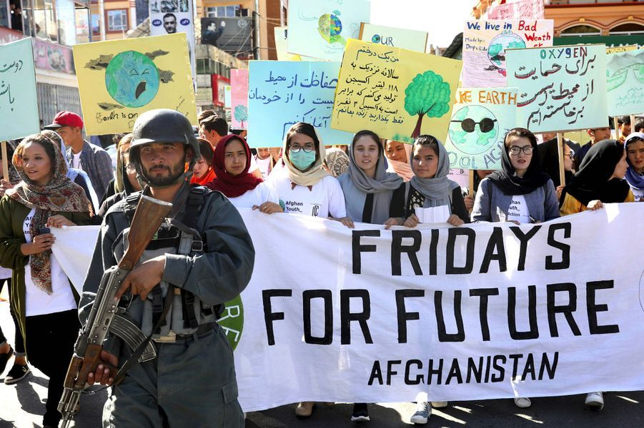 "Kaboul, Afghanistan, lors du ""Friday for Future"" planétaire, le 20 septembre 2019."