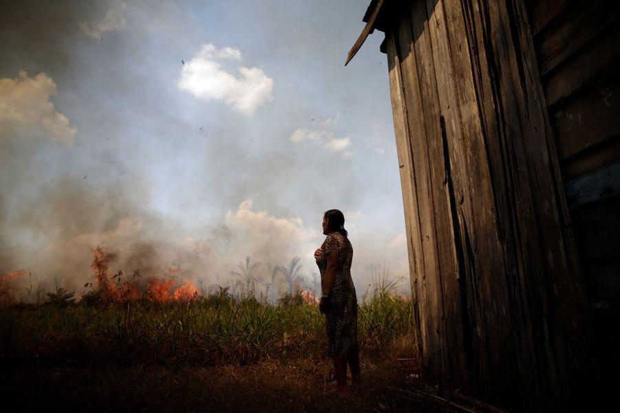 Dans l'enfer des feux en Amazonie, en août 2020.