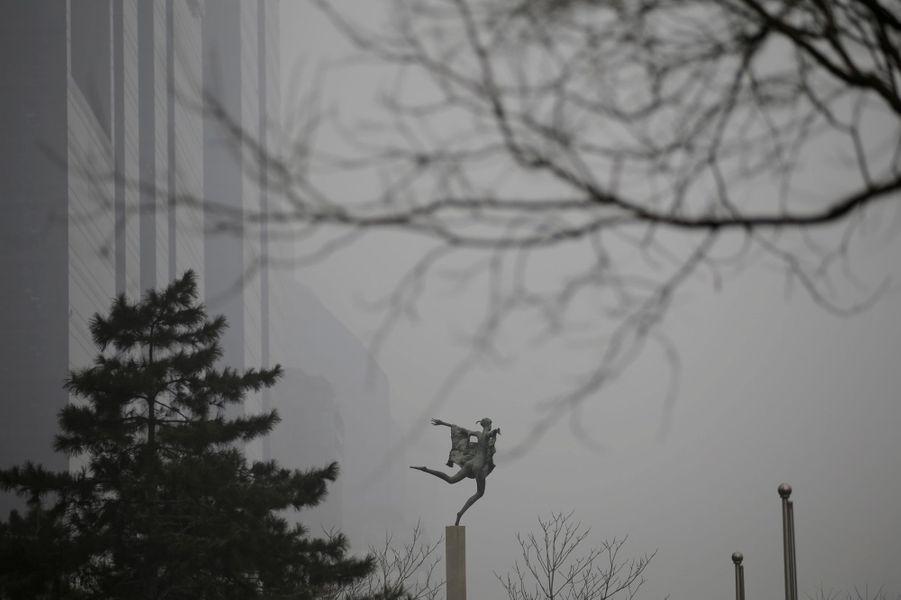 Pollution à Pékin, le 21 décembre 2016.
